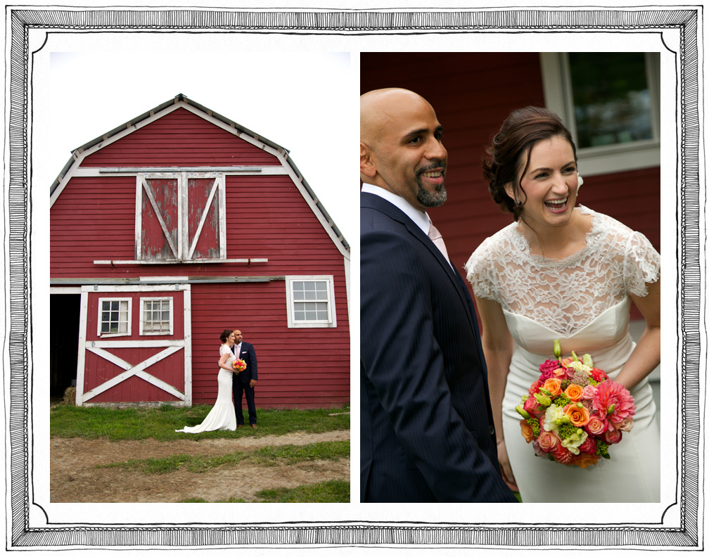 Beautiful Barn Background for Bride and Groom's Country Wedding